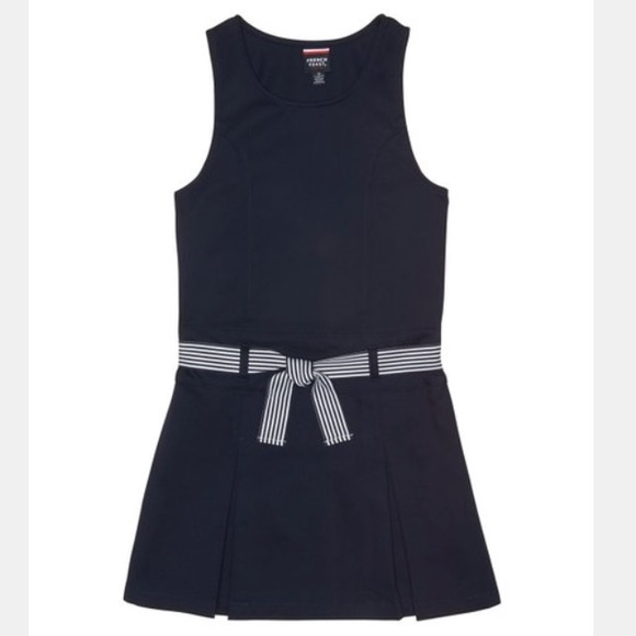 French Toast Girls Belted Polo Dress